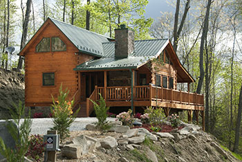 Bon Your First Impression Of The Casual Elegance Of This Cabin Is Seeing The  Wrap Around Deck With Its Beautifully Crafted Wood Burning Fireplace,  Rockers, ...