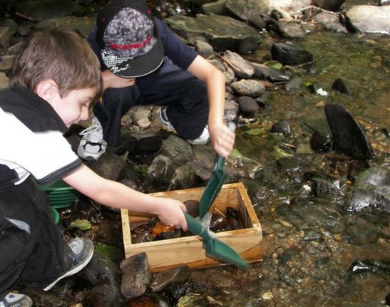 Panning for gold for Kid friendly fishing near me